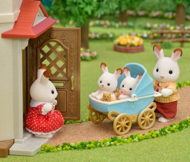 Les jumeaux lapin chocolat et la poussette double - 5