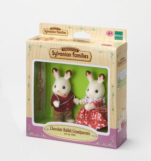 Çikolata Kulaklı Tavşan Büyükanne ve Büyükbaba Seti - 3