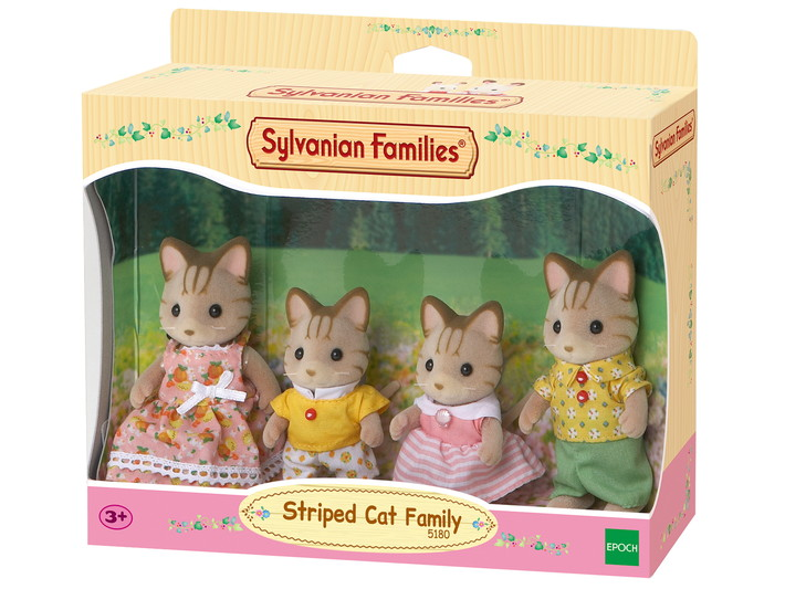 Familie gestreepte kat - 4
