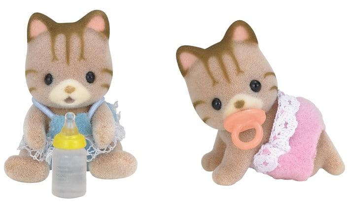 Çizgili Kedi İkiz Bebekleri - 4