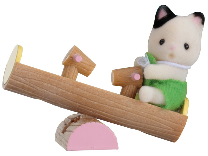 黑耳猫宝宝和跷跷板 - 3