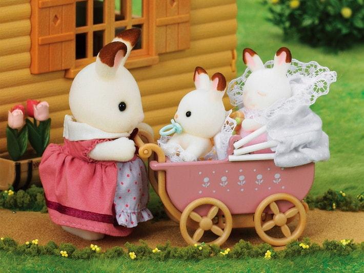 Çikolata Kulaklı Tavşan İkiz Seti (Çocuk Arabası) - 4