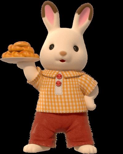 Papá de la Familia Conejo Chocolate