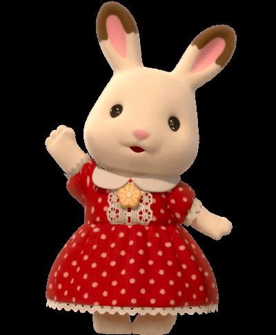 Hermana de la Familia Conejo Chocolate